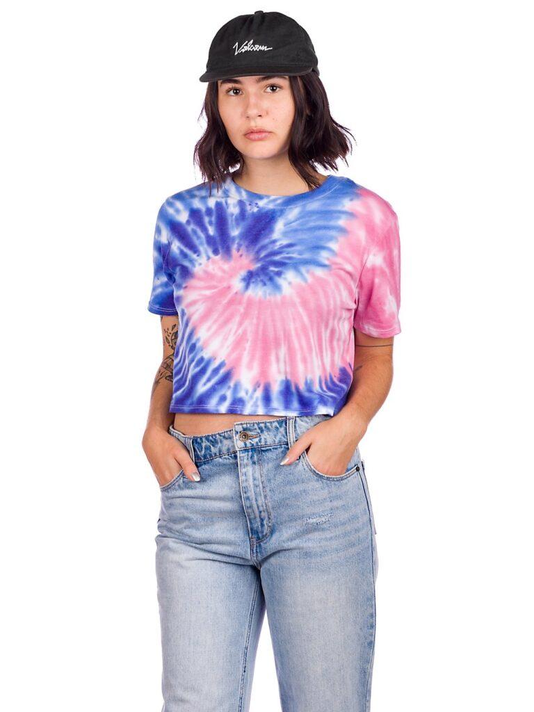 A.Lab Quinnie T-Shirt tie dye pink blue kaufen