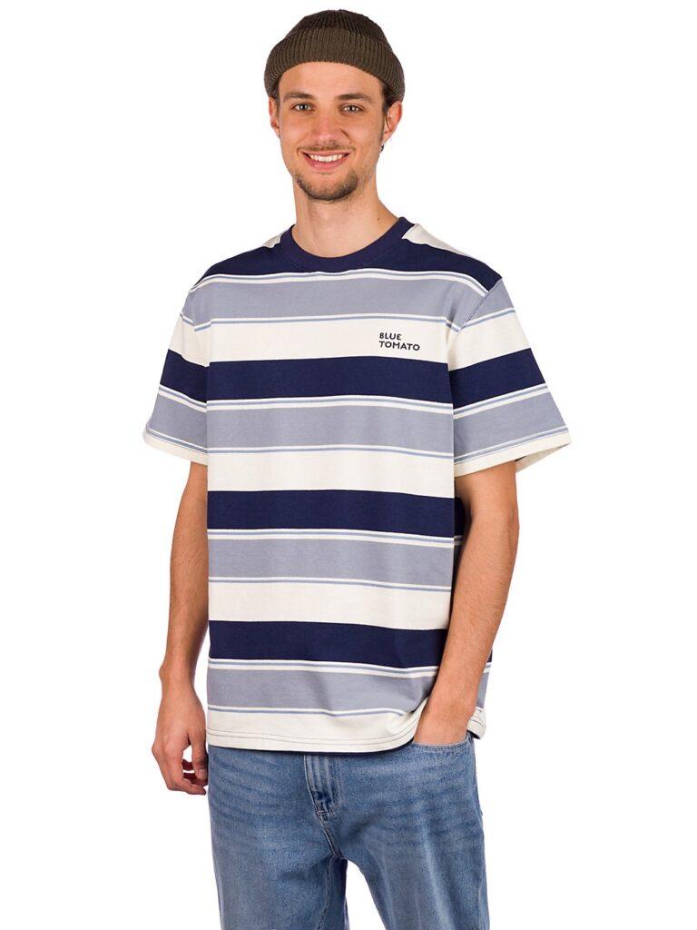 Blue Tomato Cooper T-Shirt navy blue / grey / white kaufen