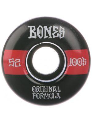 Bones Wheels 100's OG #19 V4 100A Wide 52mm Wheels black / red kaufen