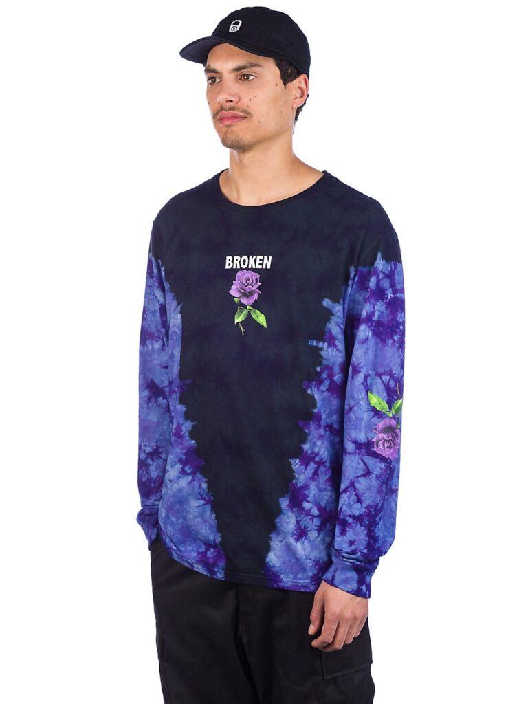 Broken Promises Thornless Tie Dye Long Sleeve T-Shirt black kaufen