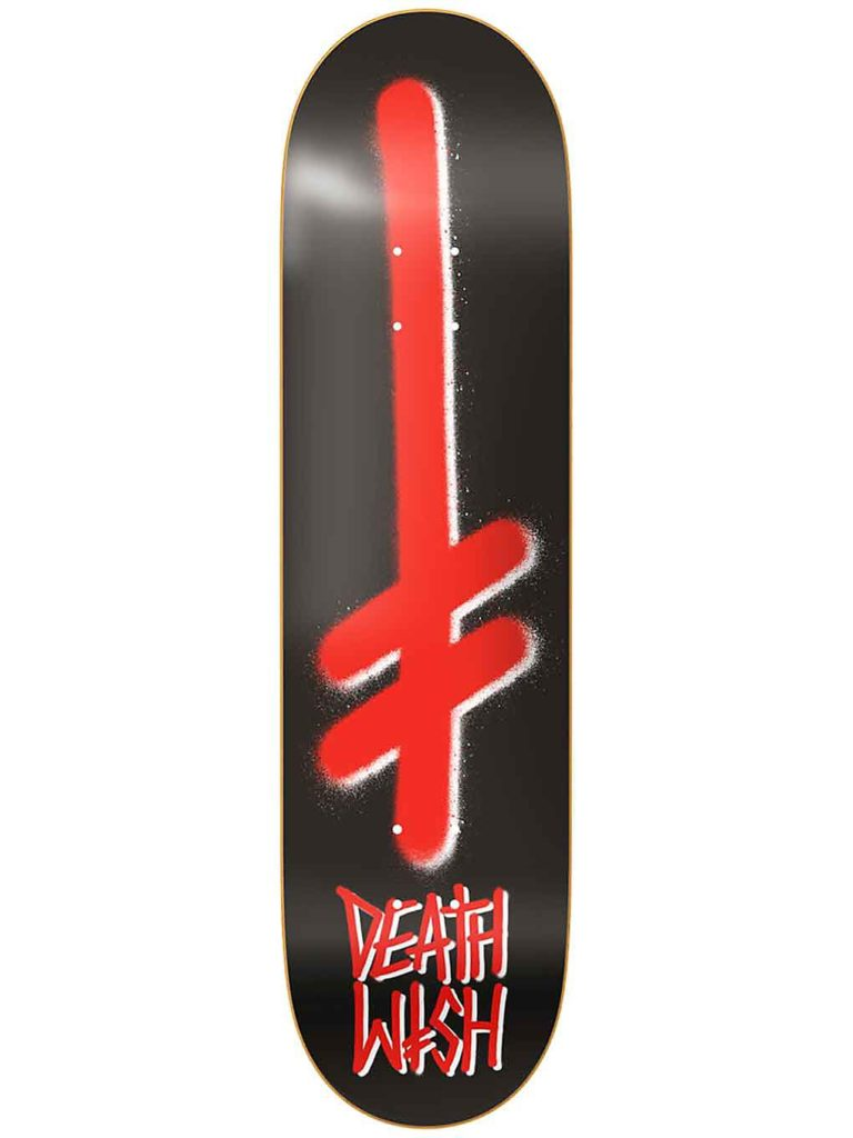 """Deathwish Gang Logo Black Red 8.0"""" Deck uni kaufen"""