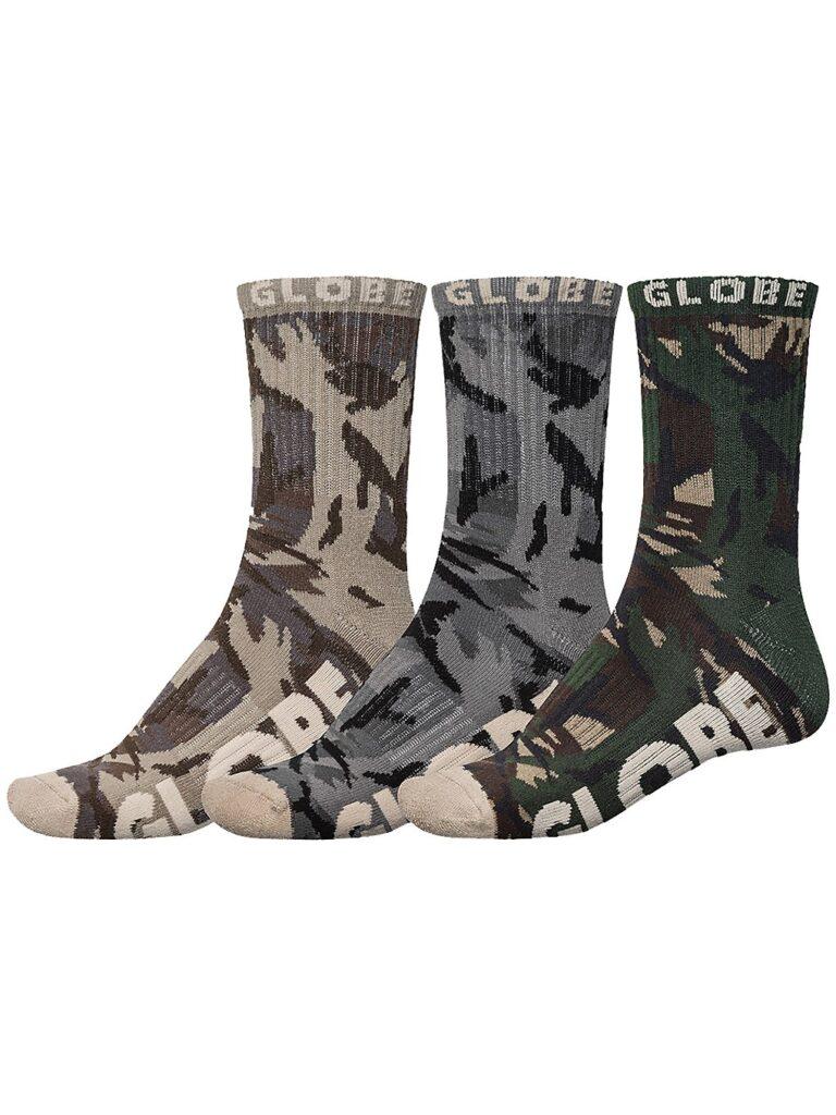 Globe Eco Camo Crew 7-11 3Pk Socks camo kaufen
