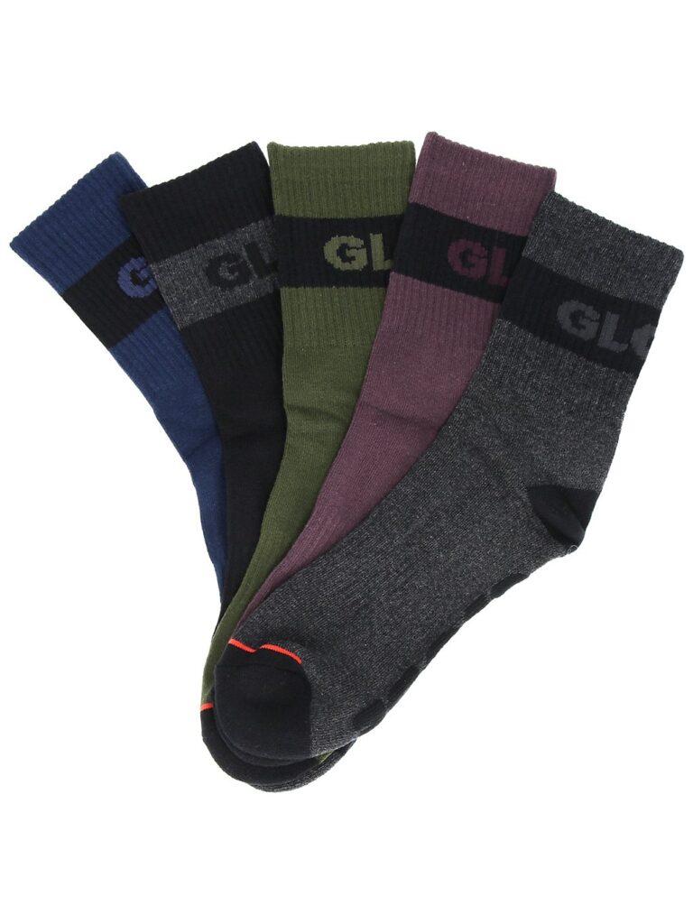 Globe Horizons Crew 5Pk 7-11 Socks dark assorted kaufen