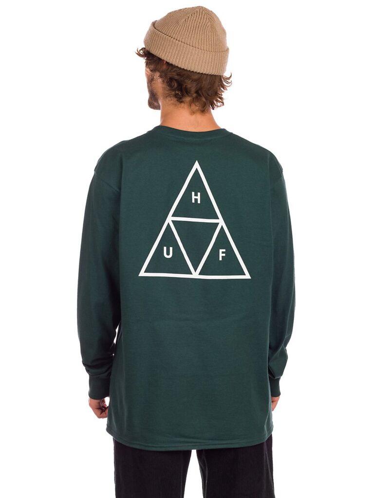 HUF Essential TT Long Sleeve T-Shirt dark green kaufen