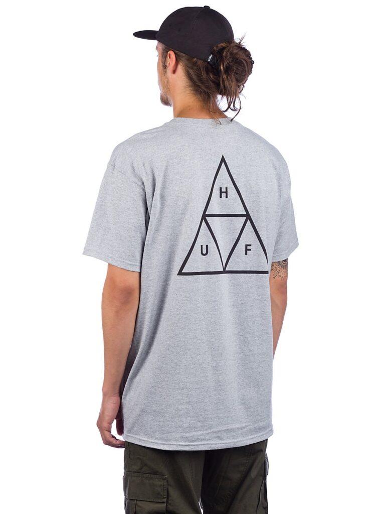 HUF Essentials TT T-Shirt grey heather kaufen