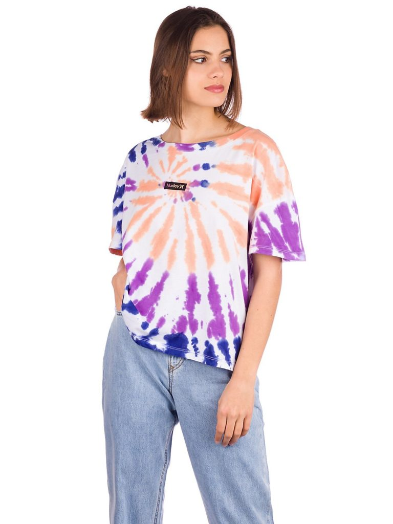 Hurley One & Only Tie Dye Flouncy T-Shirt white kaufen