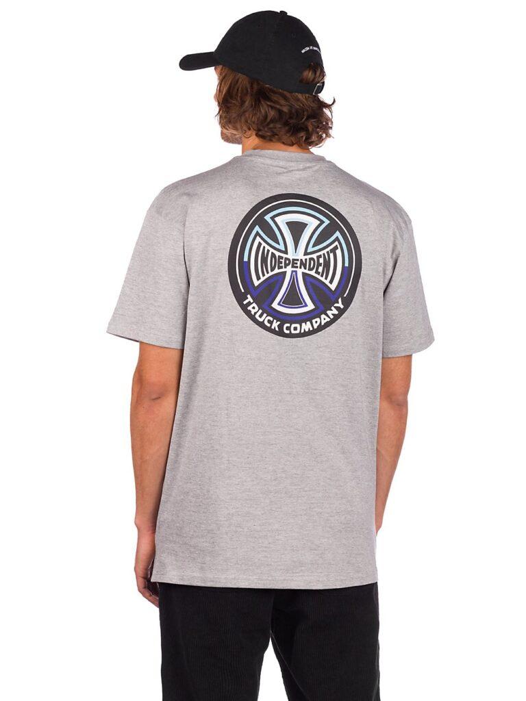 Independent Split Cross T-Shirt dark heather kaufen