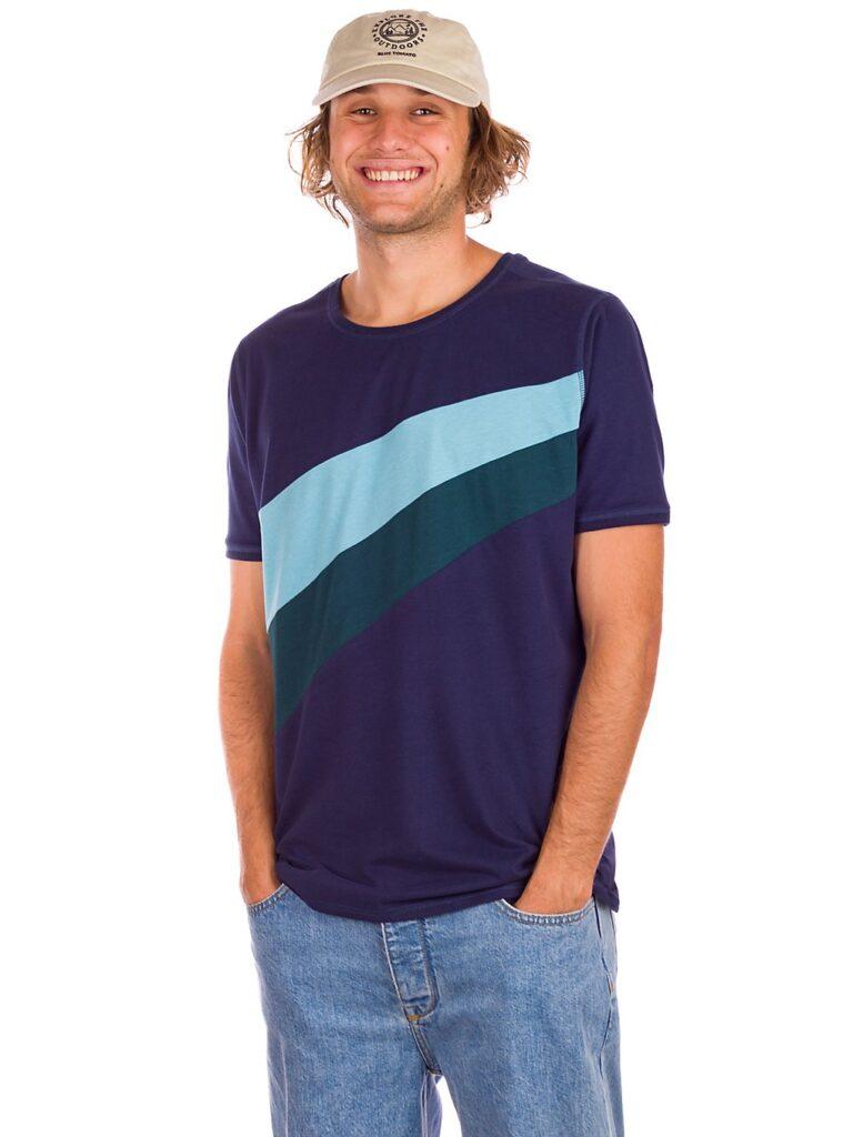 Kazane Julian T-Shirt peacot / dp teal / milky blue kaufen