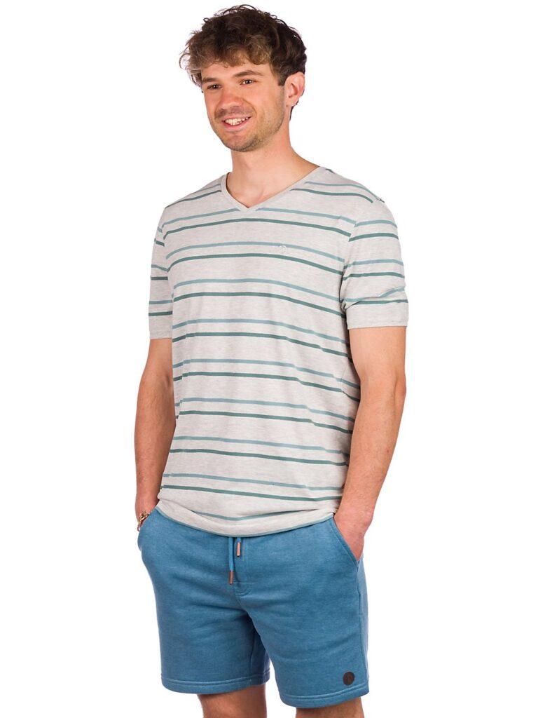 Kazane Landscape T-Shirt light heather grey / stripe kaufen