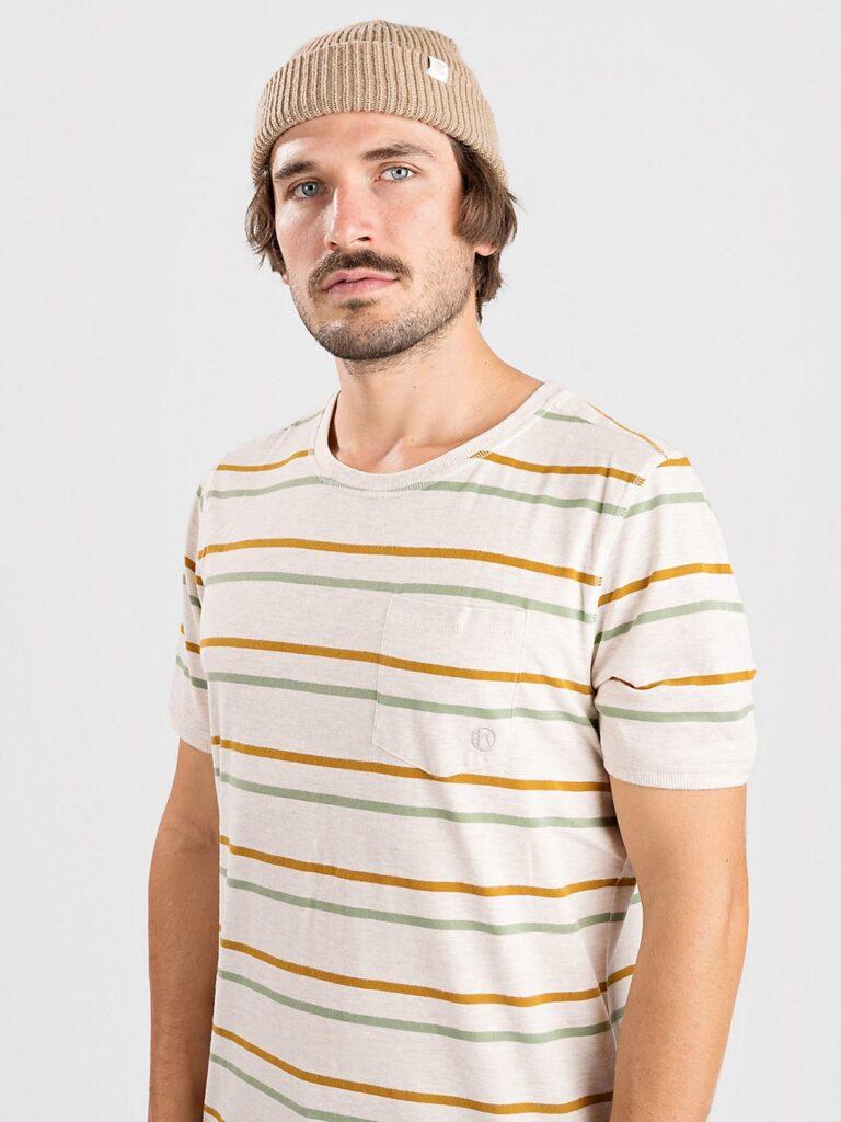 Kazane Moss T-Shirt oatmeal heather / striped kaufen