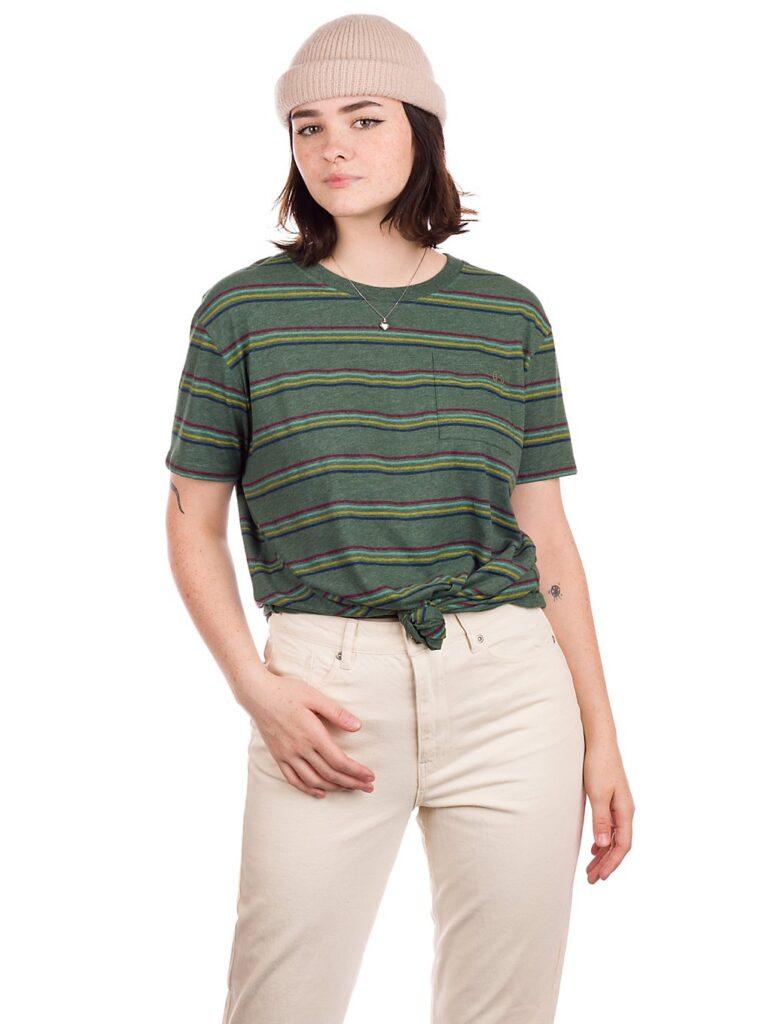 Kazane Rehn T-Shirt pineneedle heathr / striped kaufen