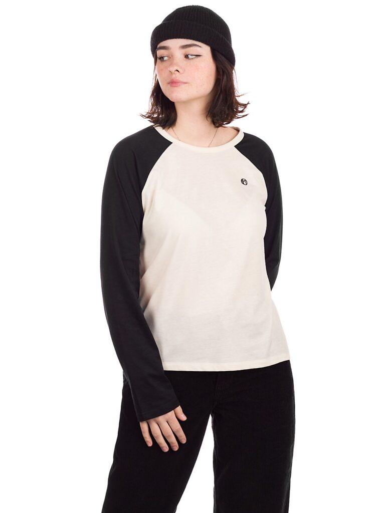 Kazane Wilma Long Sleeve T-Shirt white asparagus / black kaufen