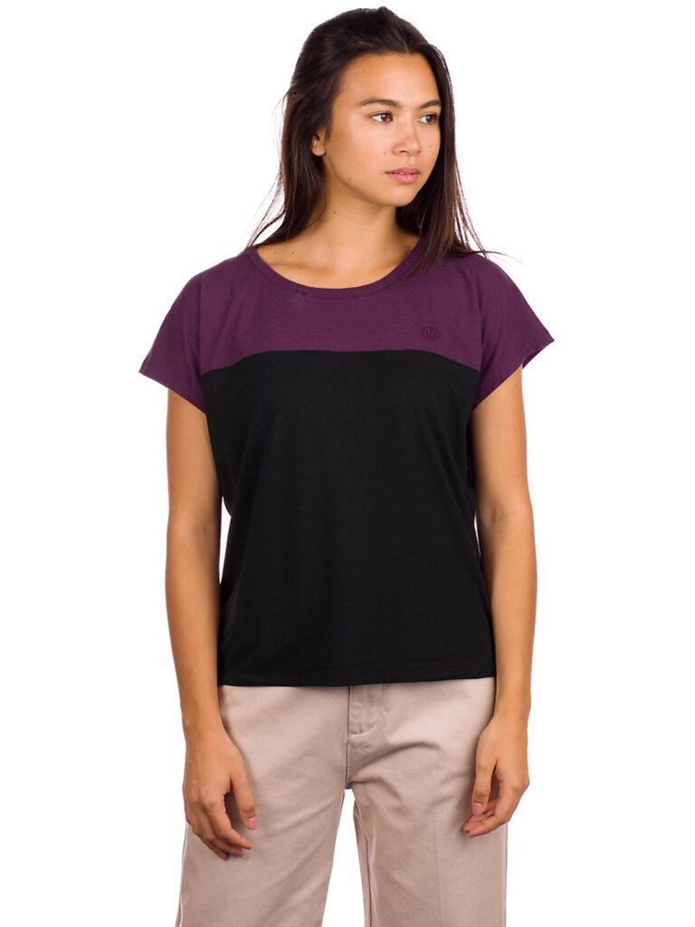 Kazane Yrsa T-Shirt black / plum perfect kaufen