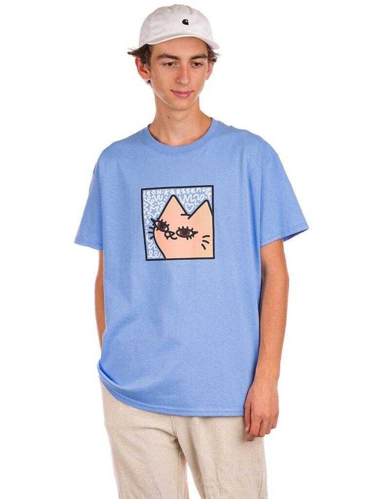 Leon Karssen Gella Scribble T-Shirt blue kaufen