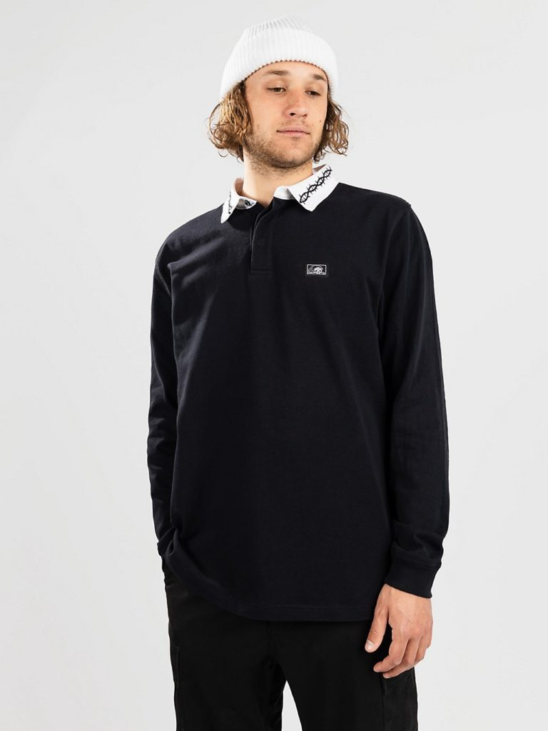 Lurking Class Thorn Rugby Long Sleeve T-Shirt black / white kaufen