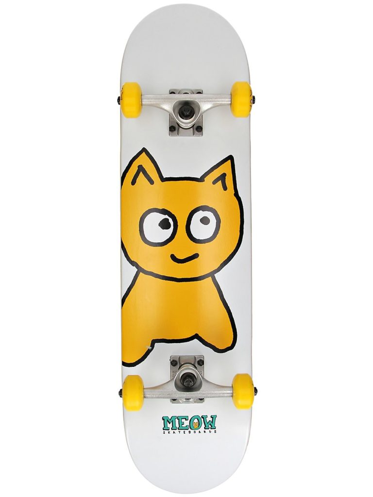 """Meow Skateboards Big Cat 8"""" Complete white kaufen"""