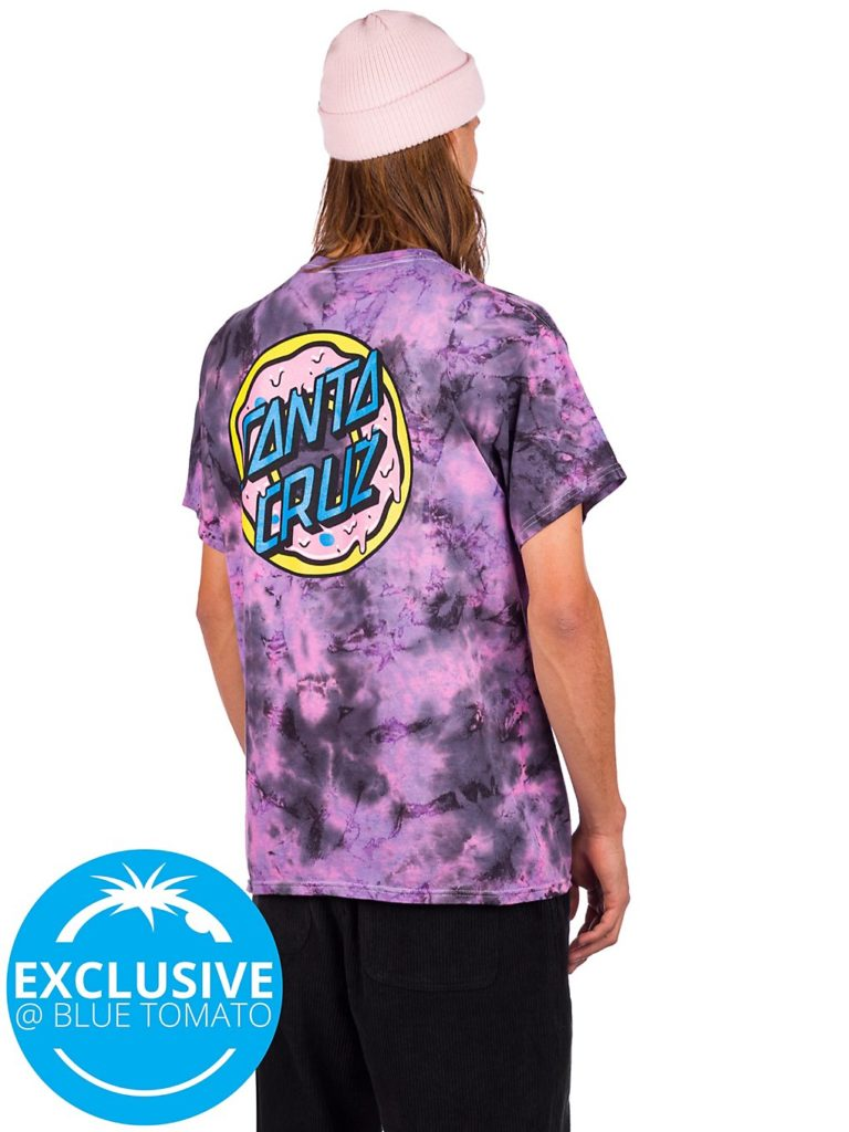 Odd Future X Santa Cruz Donut T-Shirt purple tie dye kaufen