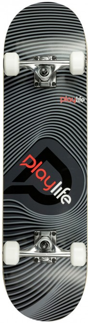 PLAYLIFE ILLUSION Skateboard 2021 grey - 8.0x31 kaufen