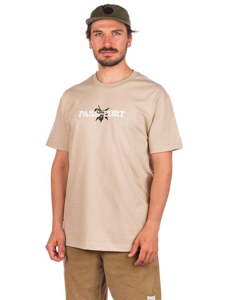 Pass Port Olive Puff Print T-Shirt sand kaufen