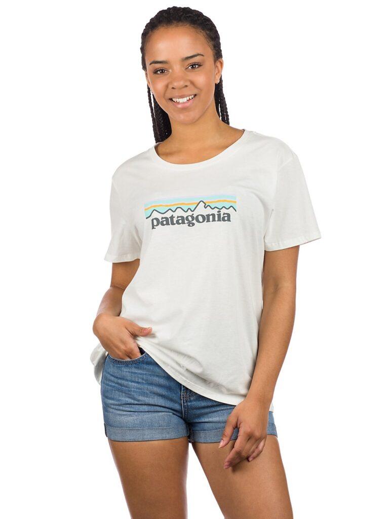 Patagonia Pastel P-6 Logo Organic Crew T-Shirt white kaufen