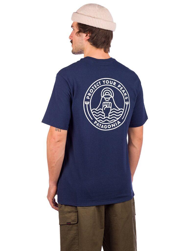 Patagonia Peak Protector Badge Responsibili T-Shirt new navy kaufen