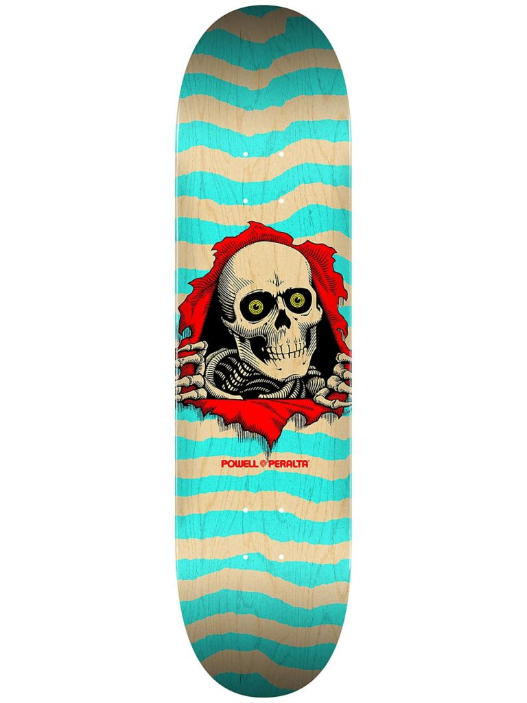 """Powell Peralta Ripper Popsicle 8.0"""" Skateboard Deck natural / turquoise kaufen"""