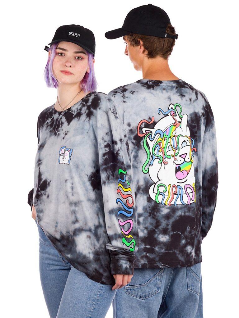 RIPNDIP Acid Playdo Long Sleeve T-Shirt black lightning wash kaufen