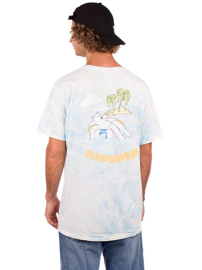RIPNDIP All Days Off T-Shirt sky blue tie dye kaufen