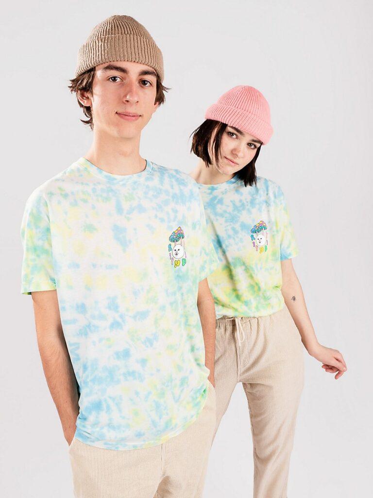 RIPNDIP Boomer Gang T-Shirt yellow & blue acid wash kaufen