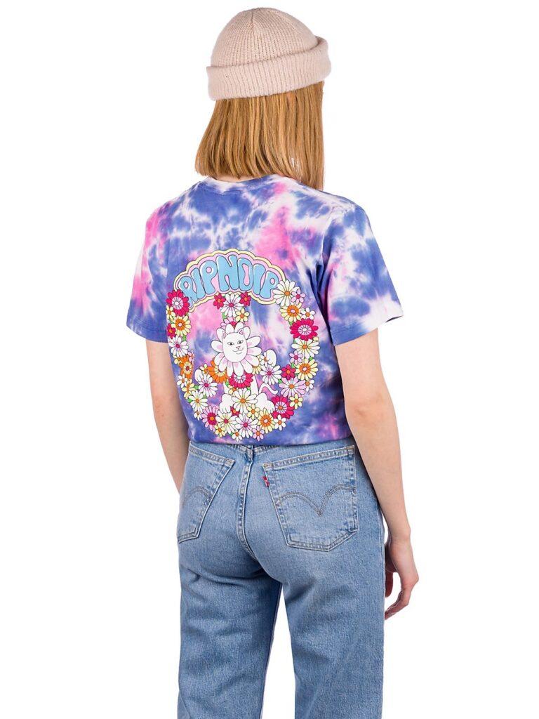 RIPNDIP Hippie Dippe BF T-Shirt blue / pink tie dye kaufen