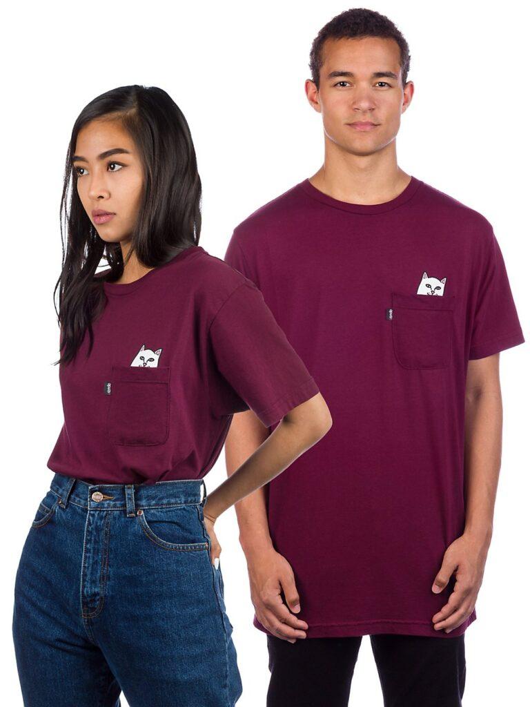 RIPNDIP Lord Nermal Pocket T-Shirt burgundy kaufen