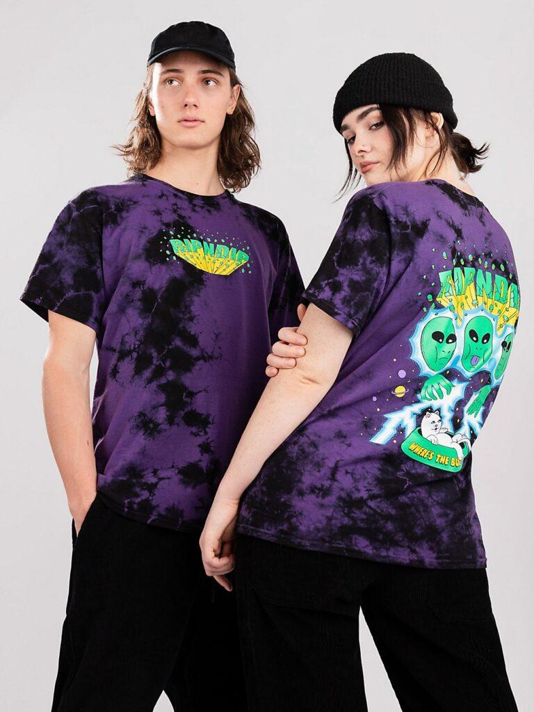 RIPNDIP Nebula T-Shirt purple & black tie dye kaufen