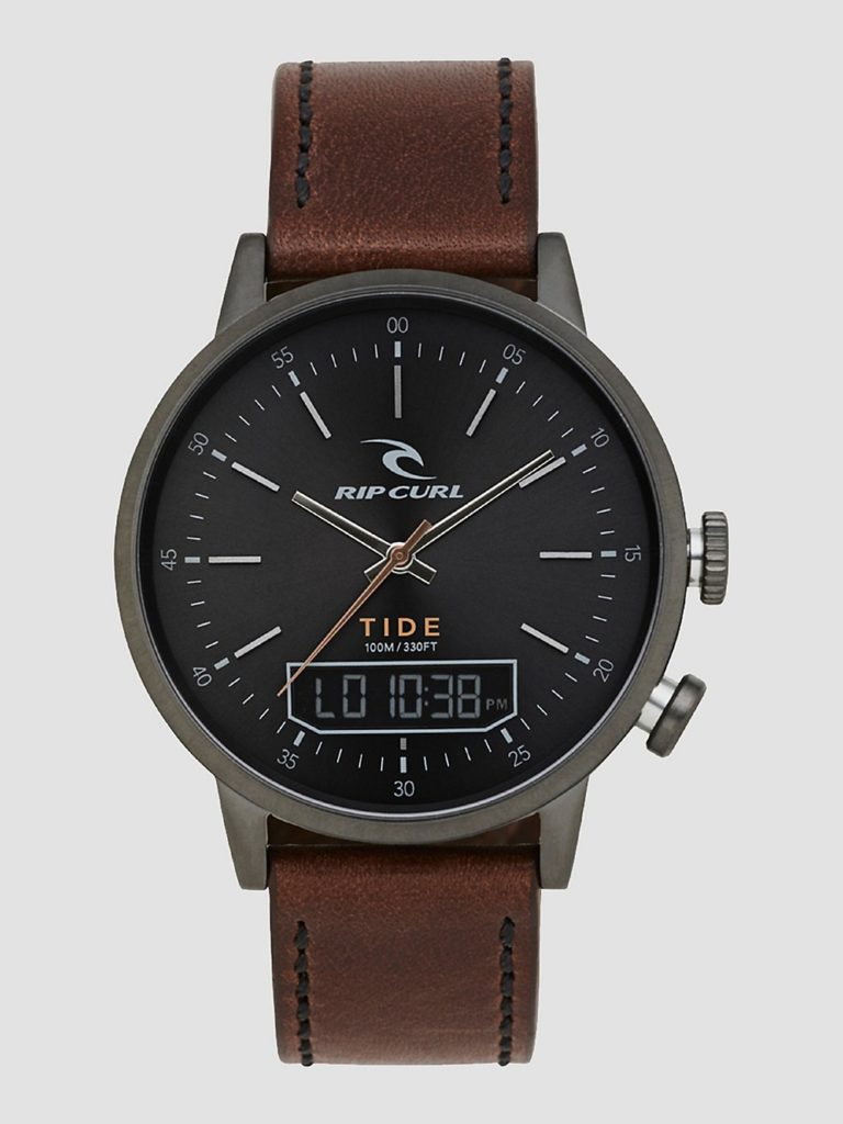 Rip Curl Drake Tide Digital Leather Watch gunmetal kaufen