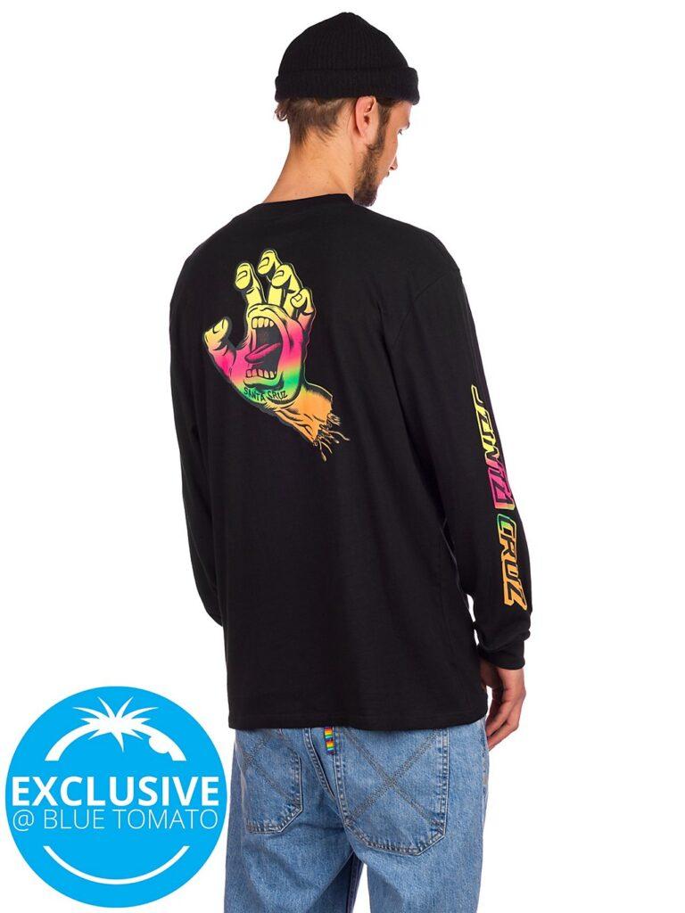 Santa Cruz BT Fade Screaming Hand Long Sleeve T-Shirt black kaufen