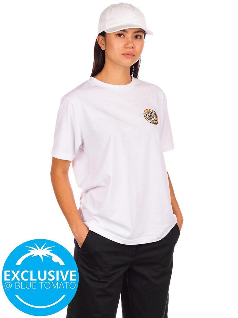 Santa Cruz BT Fall Dye Dot T-Shirt white kaufen
