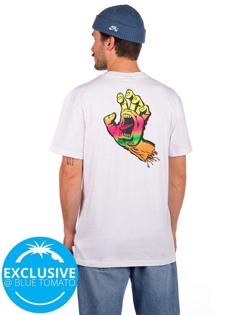Santa Cruz BT Multi Fade Screaming Hand T-Shirt white kaufen