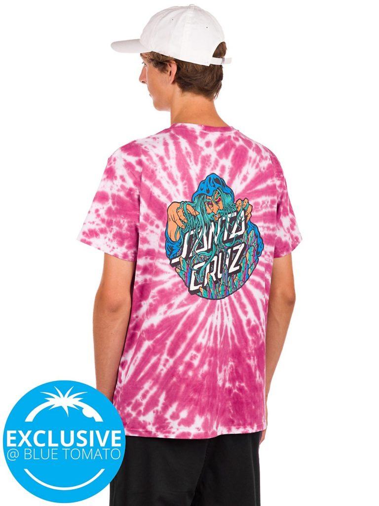 Santa Cruz BT Spill Conjurer T-Shirt burgundy spider tie / dye kaufen