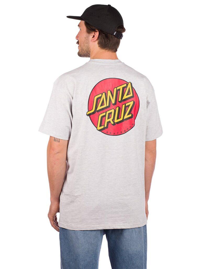 Santa Cruz Classic Dot Chest T-Shirt athletic heather kaufen