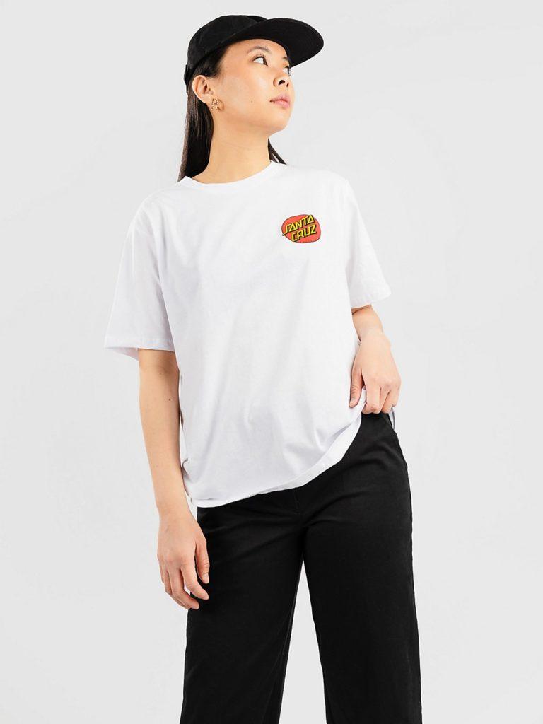 Santa Cruz Classic Dot Chest T-Shirt white kaufen