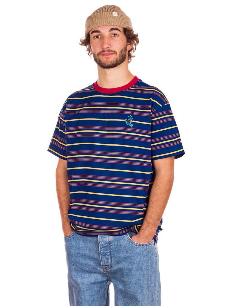 Santa Cruz Mini Hand Stripe T-Shirt dark navy kaufen
