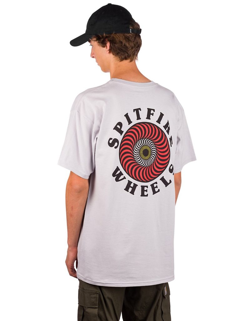 Spitfire OG Classic Fill T-Shirt silver w / red / white / yellow kaufen