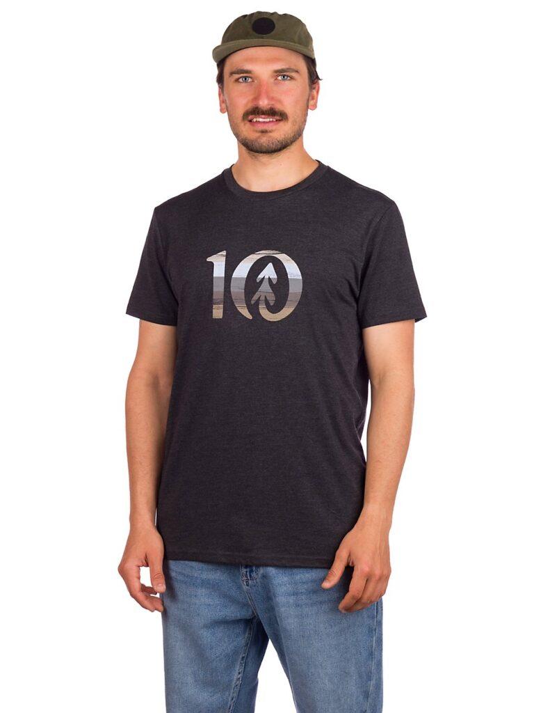 Tentree Spruce Stripe Ten T-Shirt meteorite black heather kaufen
