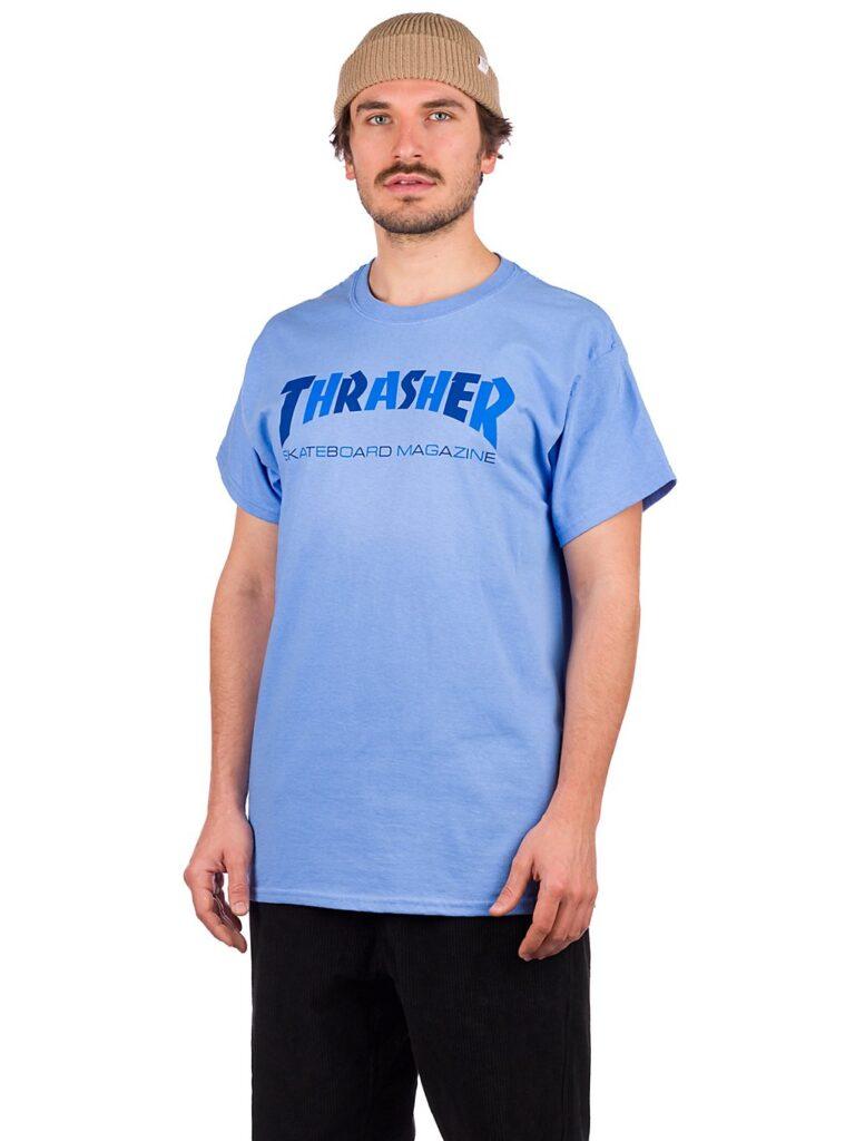 Thrasher Checkers T-Shirt carolina / blue kaufen