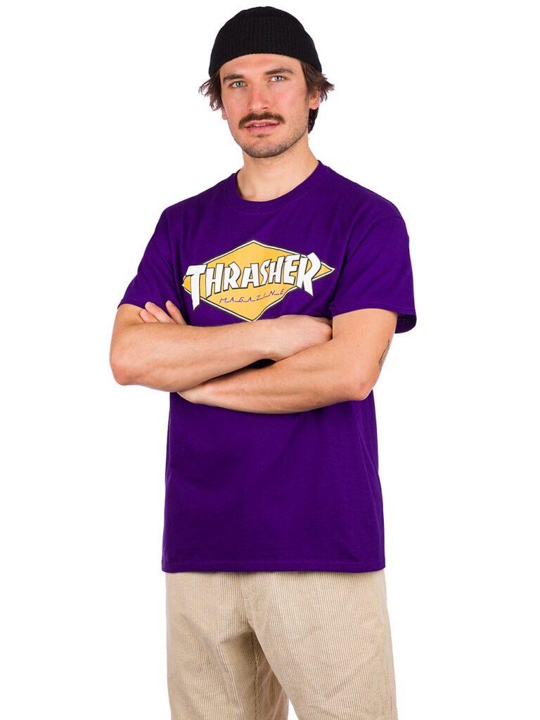 Thrasher Diamond Logo T-Shirt purple kaufen