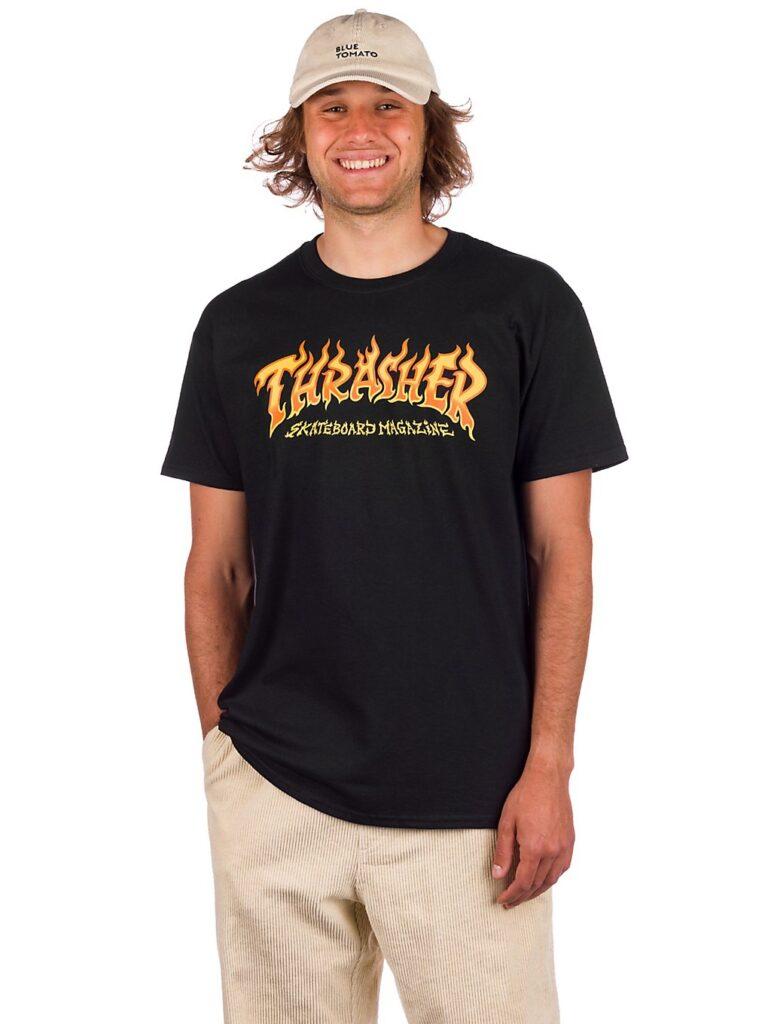 Thrasher Fire Logo T-Shirt black kaufen