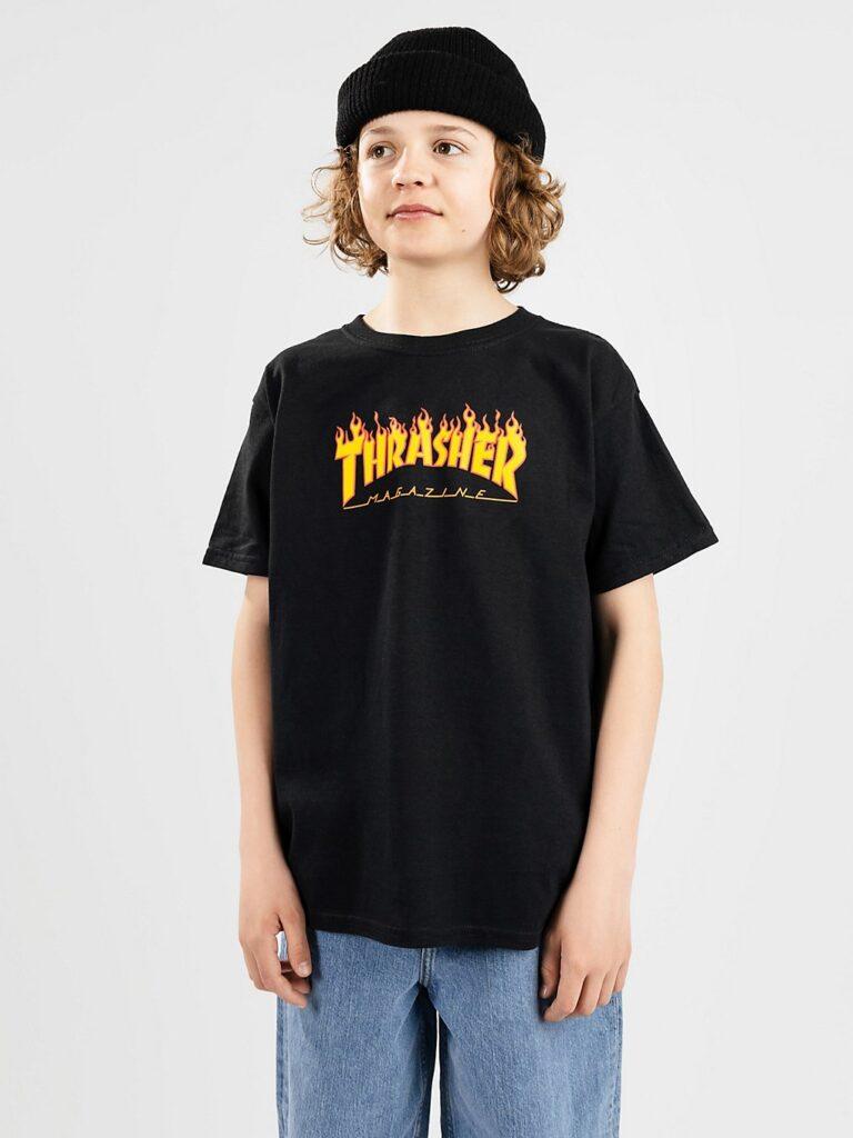 Thrasher Flame Kids T-Shirt black kaufen