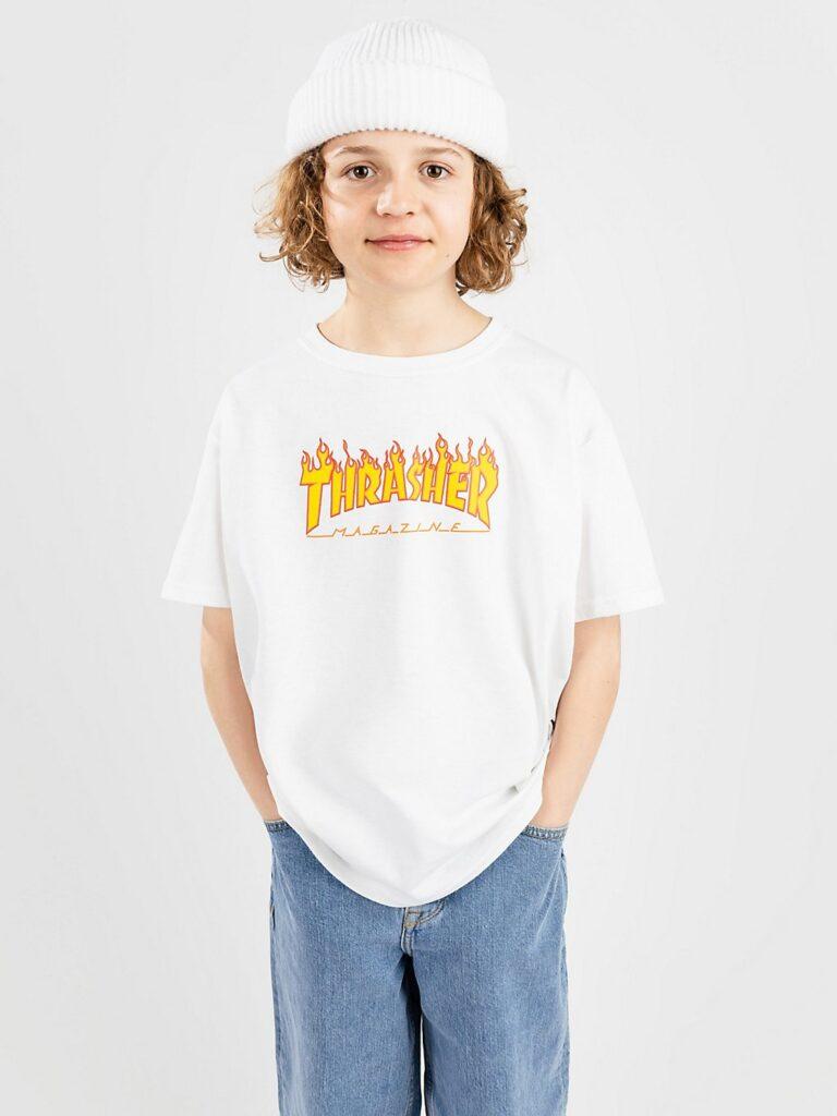 Thrasher Flame Kids T-Shirt white kaufen