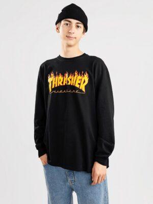 Thrasher Flame Long Sleeve T-Shirt black kaufen