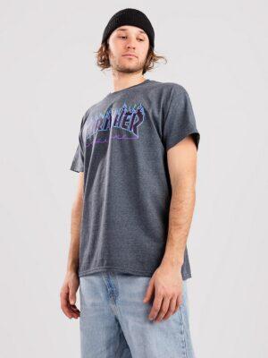 Thrasher Flame T-Shirt darkheather kaufen