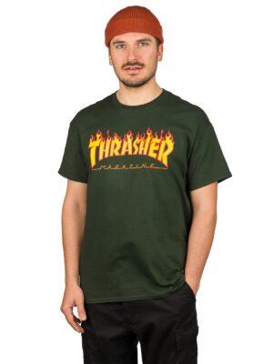 Thrasher Flame T-Shirt forestgreen kaufen